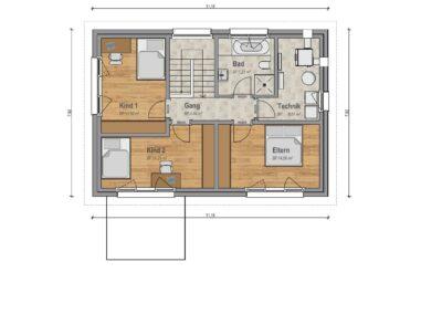 VP 04 Obergeschoss Haus 1
