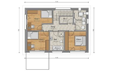 VP 04 Obergeschoss Haus 2