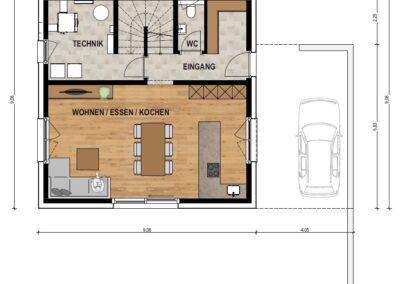 Erdgeschoss EFH1