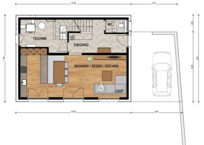 Erdgeschoss EFH2