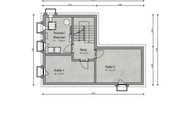 VP 03 Kellergeschoss Haus 1