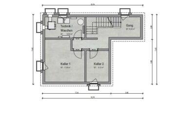 VP 03 Kellergeschoss Haus 2