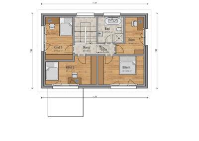 VP 03 Obergeschoss Haus 1