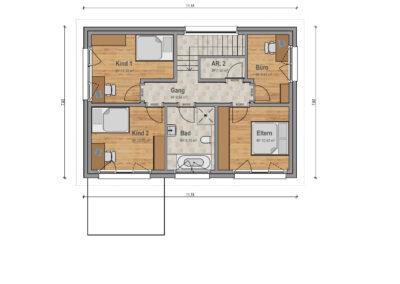 VP 03 Obergeschoss Haus 2